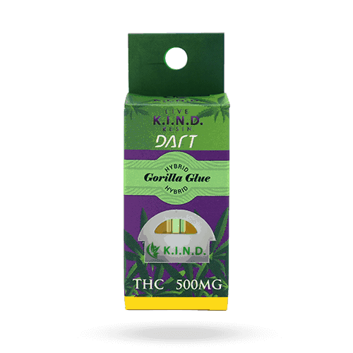 K.I.N.D. Concentrates dart cartridge packaging gorilla glue hybrid