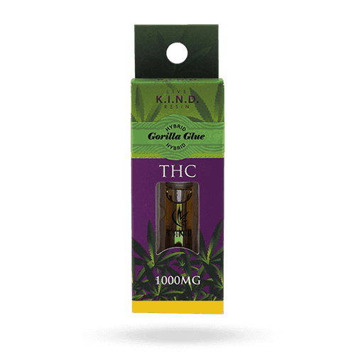 kind live resin gorilla glue vape cartridge 1000mg