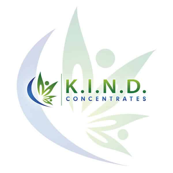 K.I.N.D. Concentrates logo with a shadow
