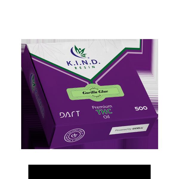 K.I.N.D. Resin THC oil 500mg DART - Gorilla Glue