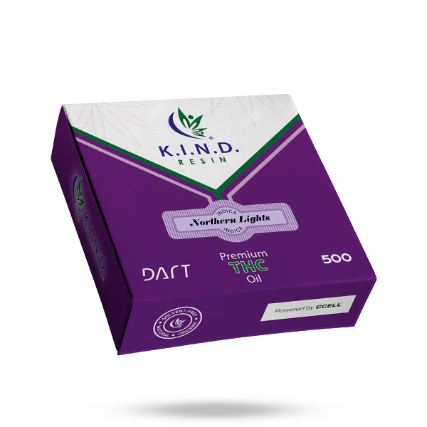 K.I.N.D. Resin THC oil 500mg DART - Northern Lights
