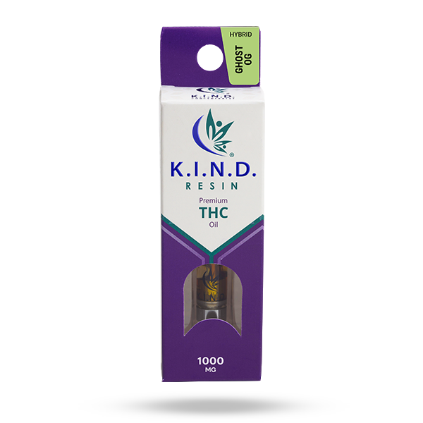 K.I.N.D. Resin 1000 mg THC vape cartridge - Ghost OG