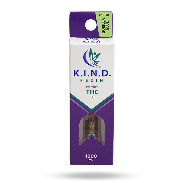 K.I.N.D. Resin 1000 mg THC vape cartridge - Gorilla Glue
