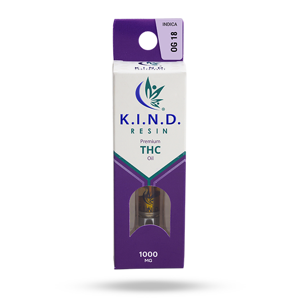K.I.N.D. Resin 1000 mg THC vape cartridge - OG 18