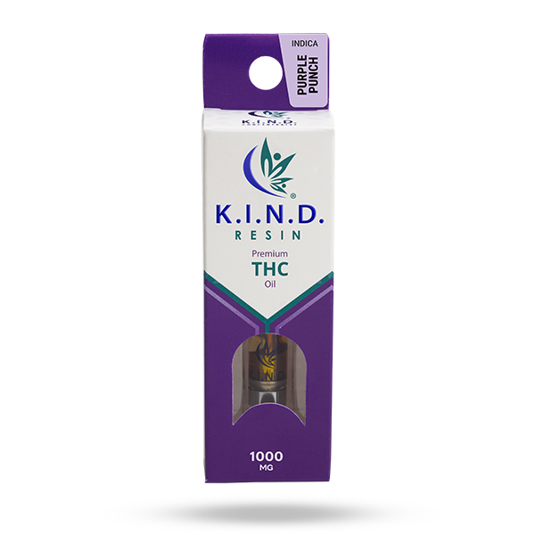 K.I.N.D. Resin 1000 mg THC vape cartridge - Purple Punch