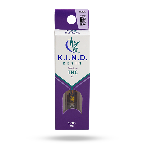 K.I.N.D. Resin 500 mg THC vape cartridge - Purple Punch