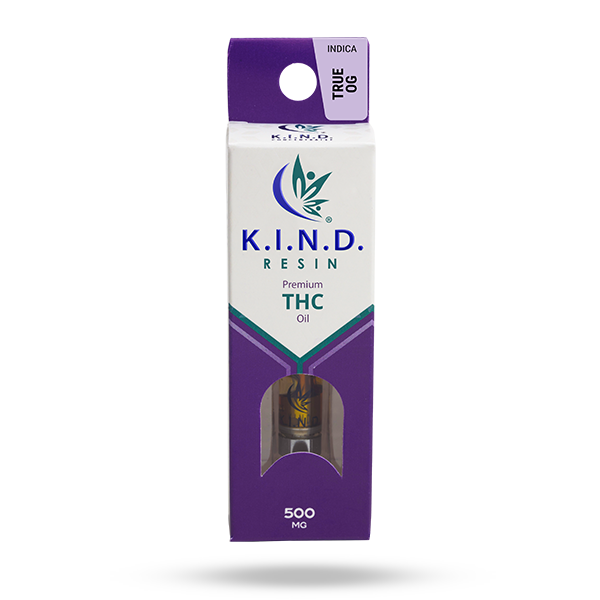 K.I.N.D. Resin 500 mg THC vape cartridge - True OG