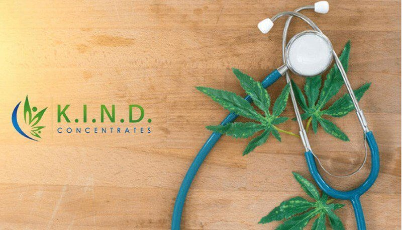 doctors stethoscope over cannabis leaves