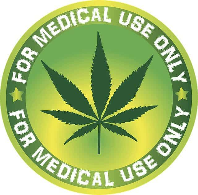 green medical marijuana badge