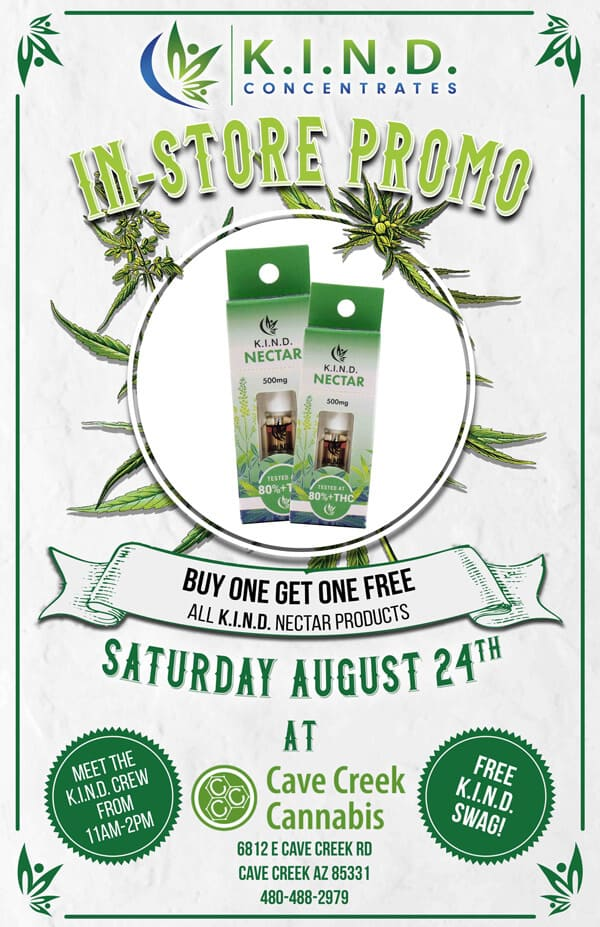 event at Cave Creek Cannabis 24.08.19