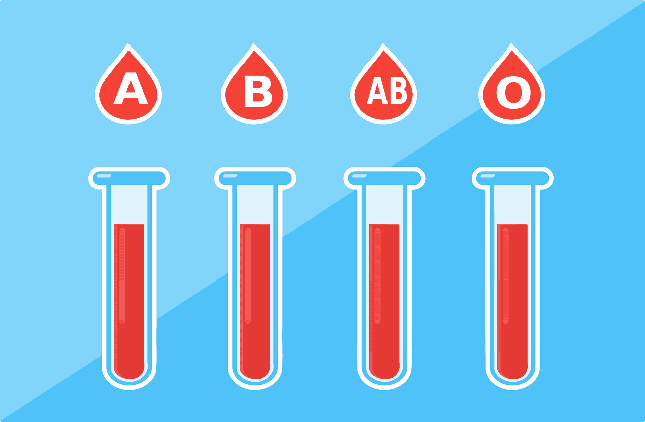 image of vials full of blood types