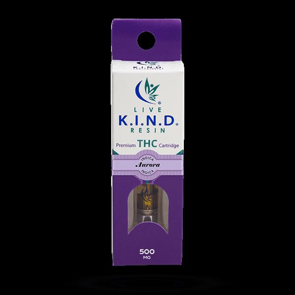 K.I.N.D. Live Resin THC vape cart Aurora