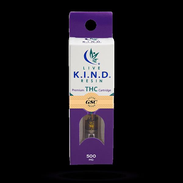 K.I.N.D. Live Resin THC vape cart GSC