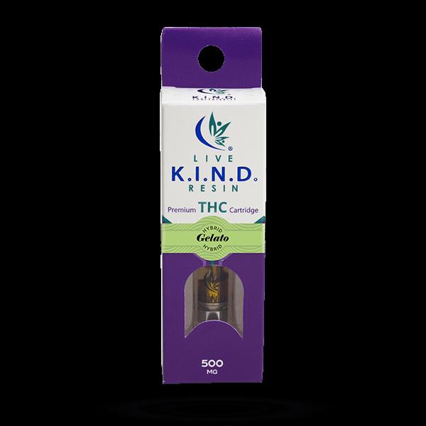 K.I.N.D. Live Resin THC vape cart Gelato