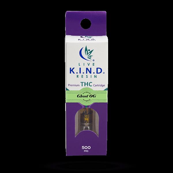 K.I.N.D. Live Resin THC vape cart Ghost OG