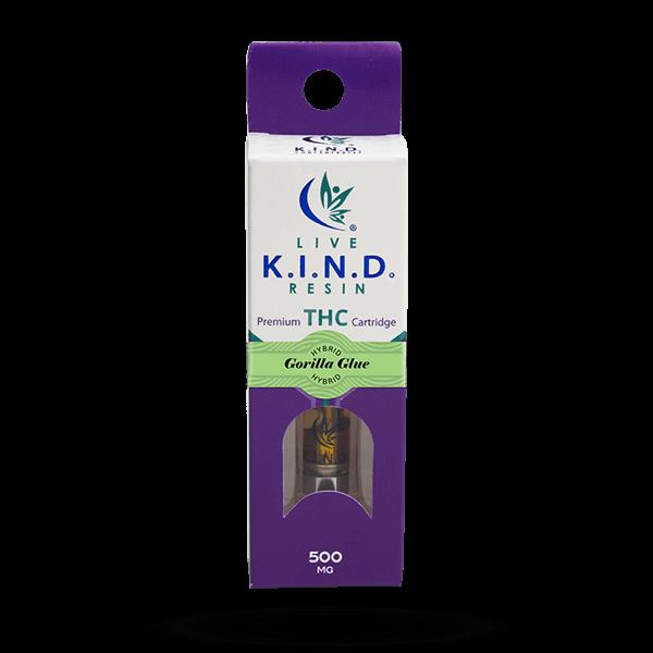 K.I.N.D. Live Resin THC vape cart Gorilla Glue