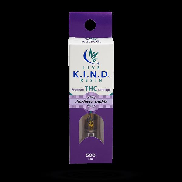 K.I.N.D. Live Resin THC vape cart Northern-Lights