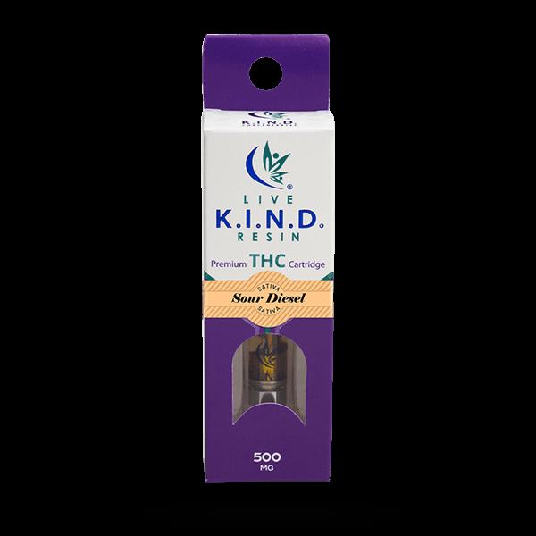 K.I.N.D. Live Resin THC vape cart Sour Disel