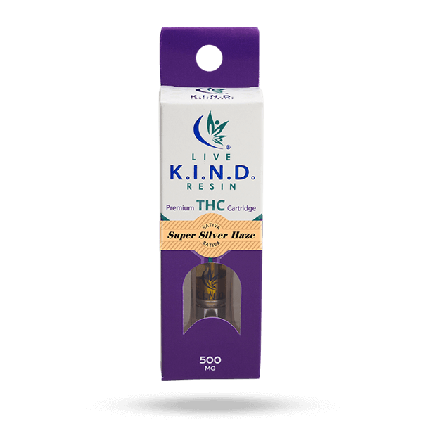K.I.N.D. Live Resin THC vape cart Super Silver Haze