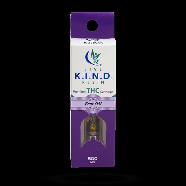 K.I.N.D. Live Resin THC vape cart True OG