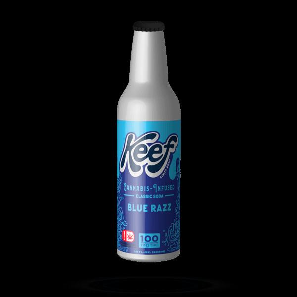 K.I.N.D. Keef Cannabis infused soda Blue Razz