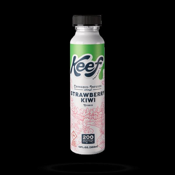K.I.N.D. Keef Cannabis infused soda Strawberry Kiwi