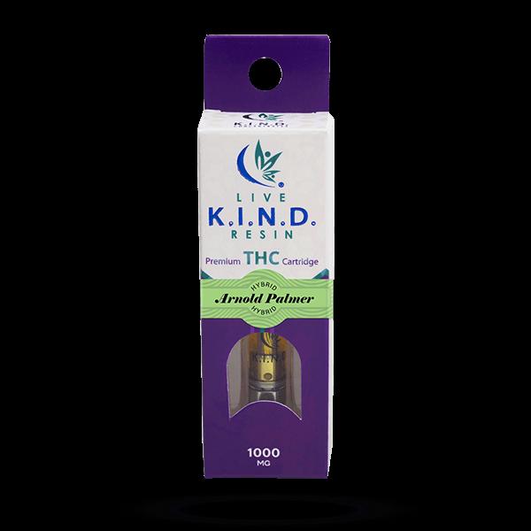 K.I.N.D. Live Resin 1000 mg THC vape cart Arnold Palmer