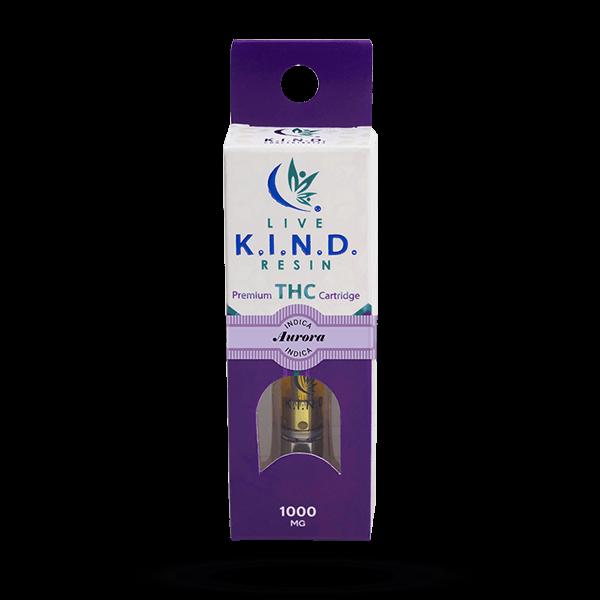 K.I.N.D. Live Resin 1000 mg THC vape cart Aurora