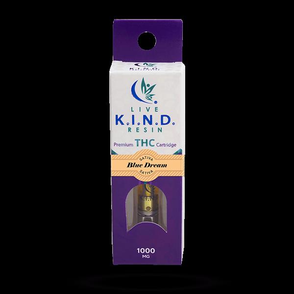 K.I.N.D. Live Resin 1000 mg THC vape cart Blue Dream