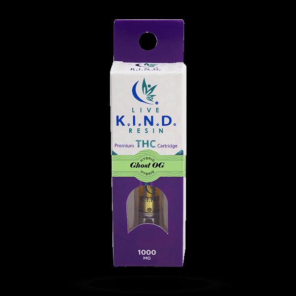 K.I.N.D. Live Resin 1000 mg THC vape cart Ghost OG