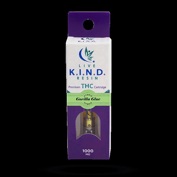 K.I.N.D. Live Resin 1000 mg THC vape cart Gorilla Glue