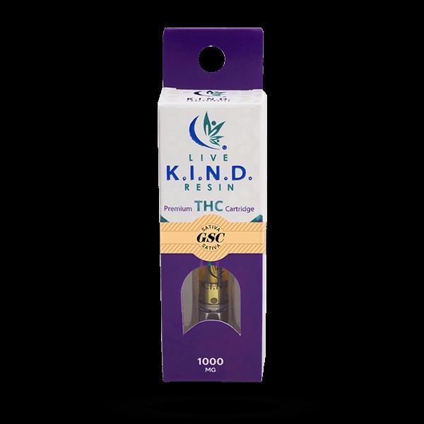 K.I.N.D. Live Resin 1000 mg THC vape cart GSC