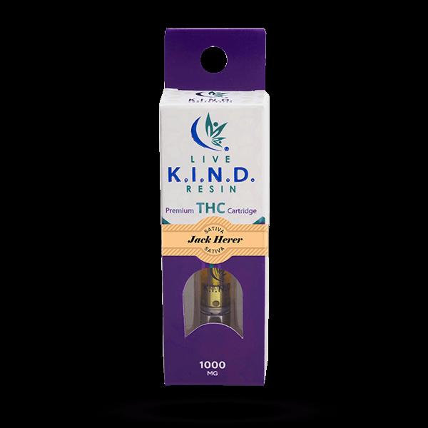 K.I.N.D. Live Resin 1000 mg THC vape cart Jack Herer