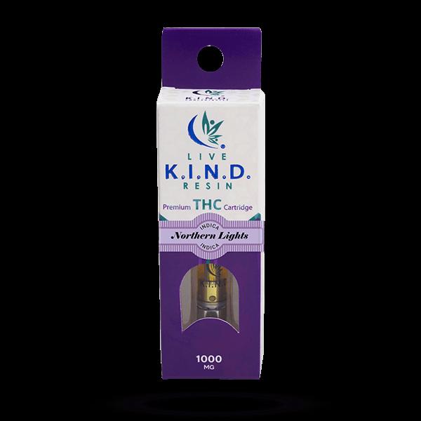 K.I.N.D. Live Resin 1000 mg THC vape cart Northern Lights