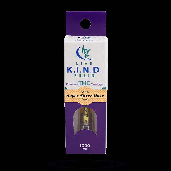 K.I.N.D. Live Resin 1000 mg THC vape cart Super Silver Haze
