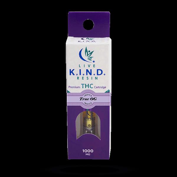 K.I.N.D. Live Resin 1000 mg THC vape cart True OG
