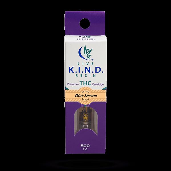 K.I.N.D. Live Resin THC vape cart Blue Dream
