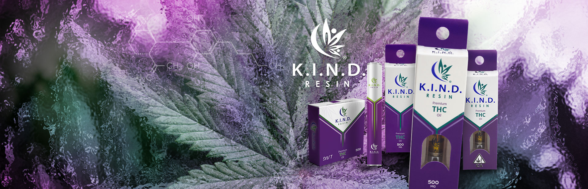 K.I.N.D. Resin vape pen and THC carts