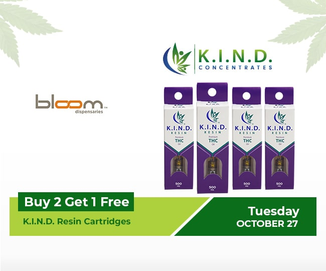 event at Bloom Dispensaries(All Locations) 27.10.2020