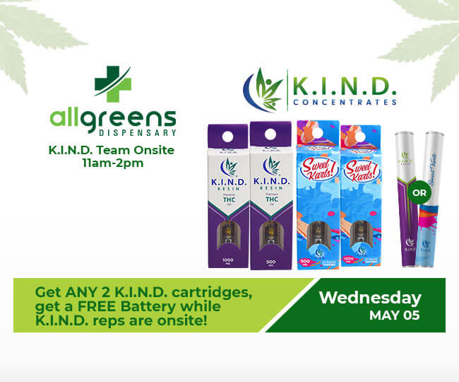 event at All Greens Dispensary on 05.05.2021